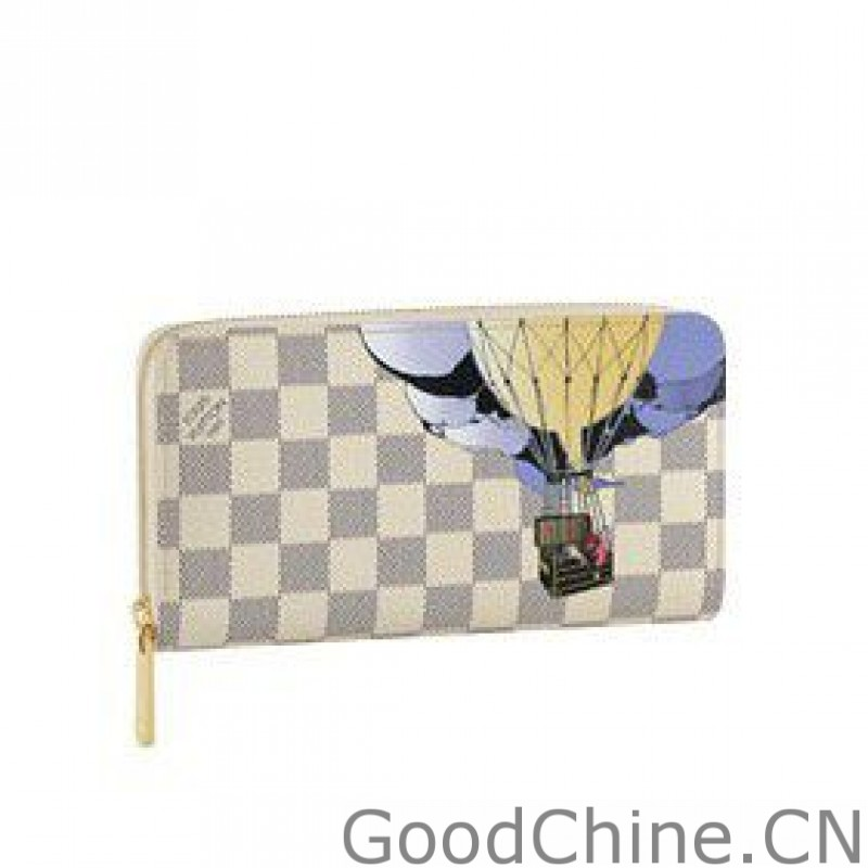 02fd095f9935e Louis vuitton Zippy Wallet Illustre Damier Azur Canvas Canvas N63006