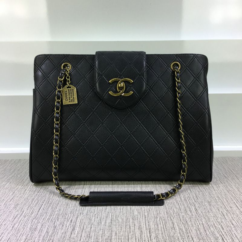 7f2c05039515 Chanel Grained Calfskin Business Affinity Shopping Tote Bag Black A94471