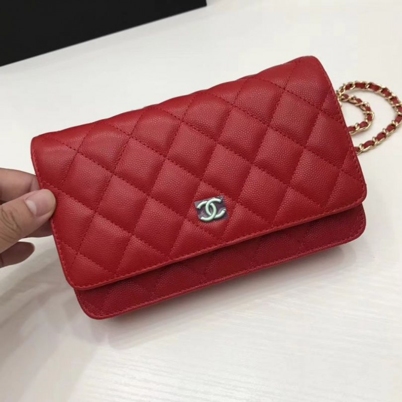 97ef7a34a06e8 Replica Chanel WOC Classic Quilted A15206 Red Outlet Online Sale