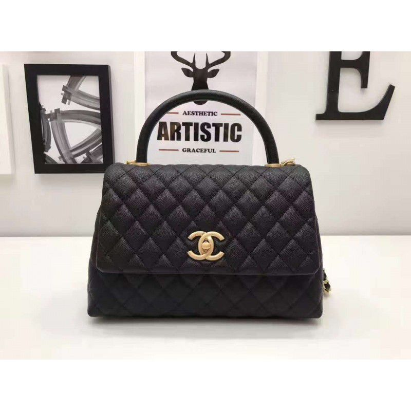 9ee496ef678 Replica Chanel Coco Handle Bag with Calfskin handle A92991 Outlet ...