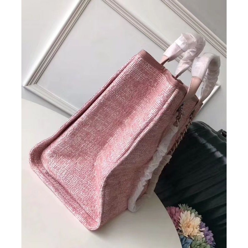 512b3144c6cd Replica Chanel Canvas Large Deauville Tote A66942 Pink Outlet Online ...