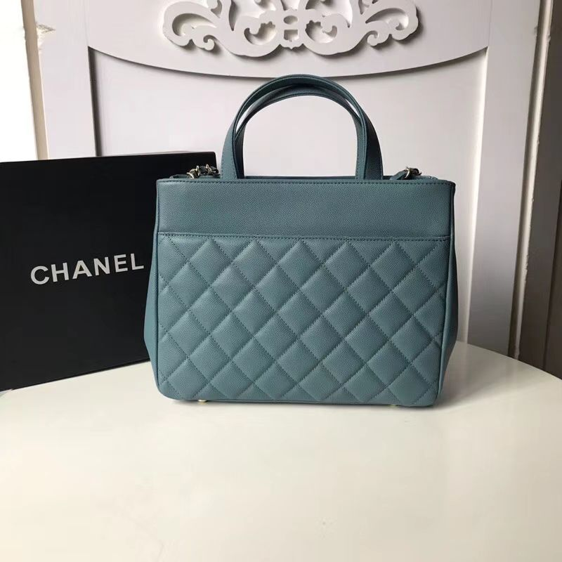 0bc377bdcb96c6 Replica Chanel Large Business Affinity Shopping Bag A93795 Blue ...