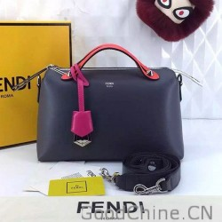 404f364253 Fendi By The Way Small Boston Bag Original Leather Black amp Red FD0805