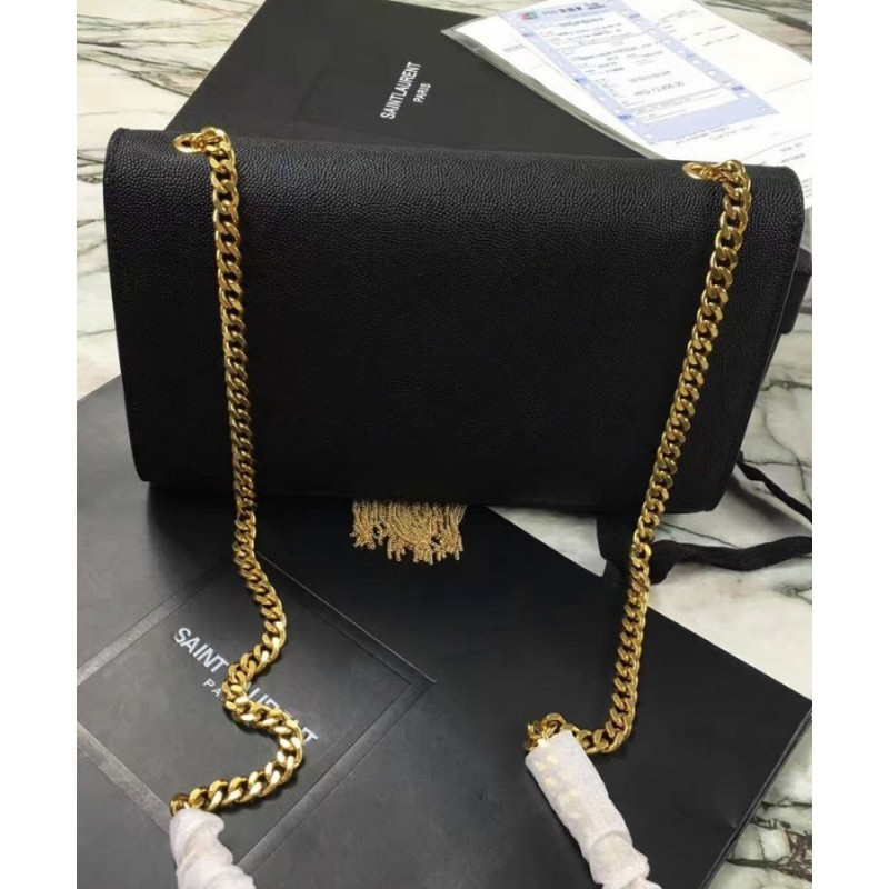756943fd1f4 ... YSL Classic Medium Kate Monogram SAINT LAURENT Tassel Satchel Black ...